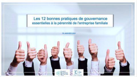 Plénière «Les 12 bonnes pratiques de gouvernance»