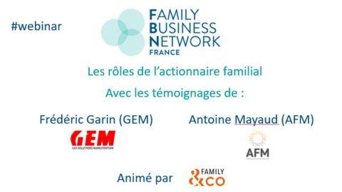 Les rôles de l'actionnaire familial